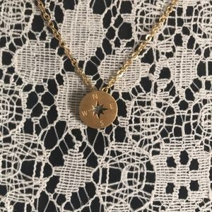 Gold/rose gold compass necklace